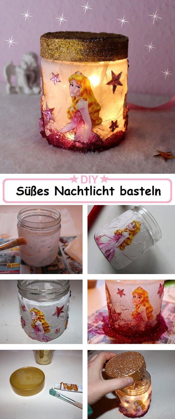 DIY Nachtlicht basteln - Kreative DIY Idee - Basteln mit Kindern - Nachtlicht selber machen