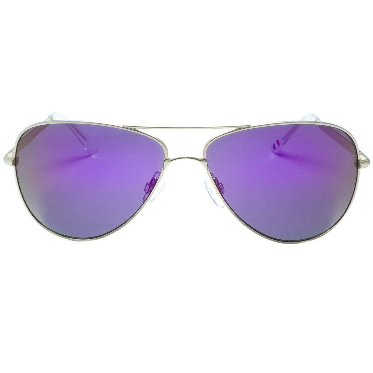 Aviator Style Sunglasses Purple Lenses Gold Temple