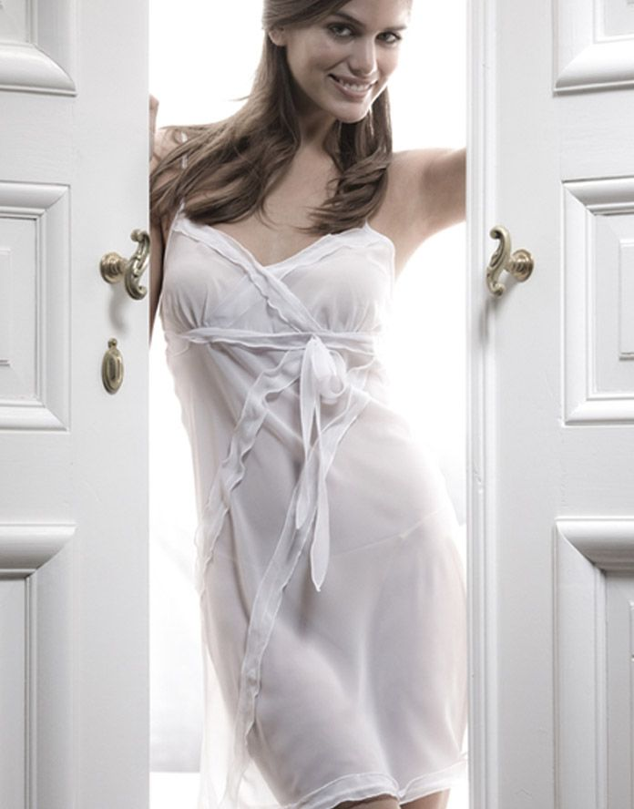 1ac25c902e A sheer ivory nightie simple but very romantic. Perfect for your wedding  night
