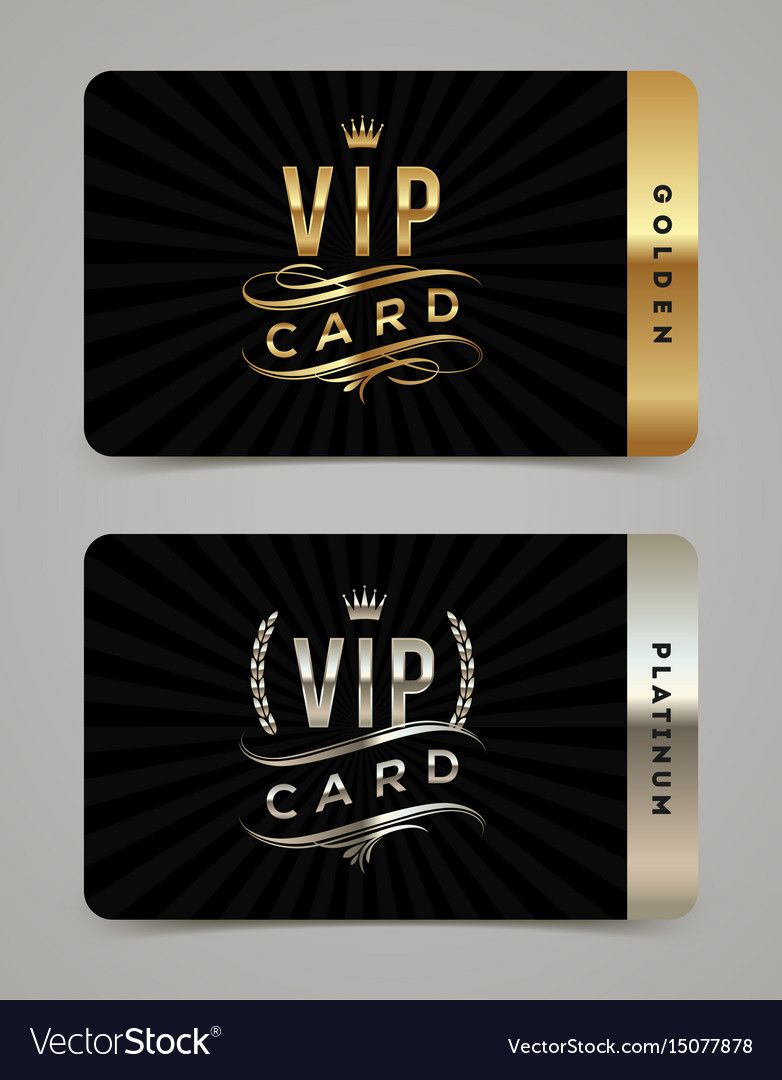 Golden And Platinum Vip Card Template Royalty Free Vector Affiliate Vip Card Golden Platinum Ad Vip Card Design Vip Card Luxury Business Cards