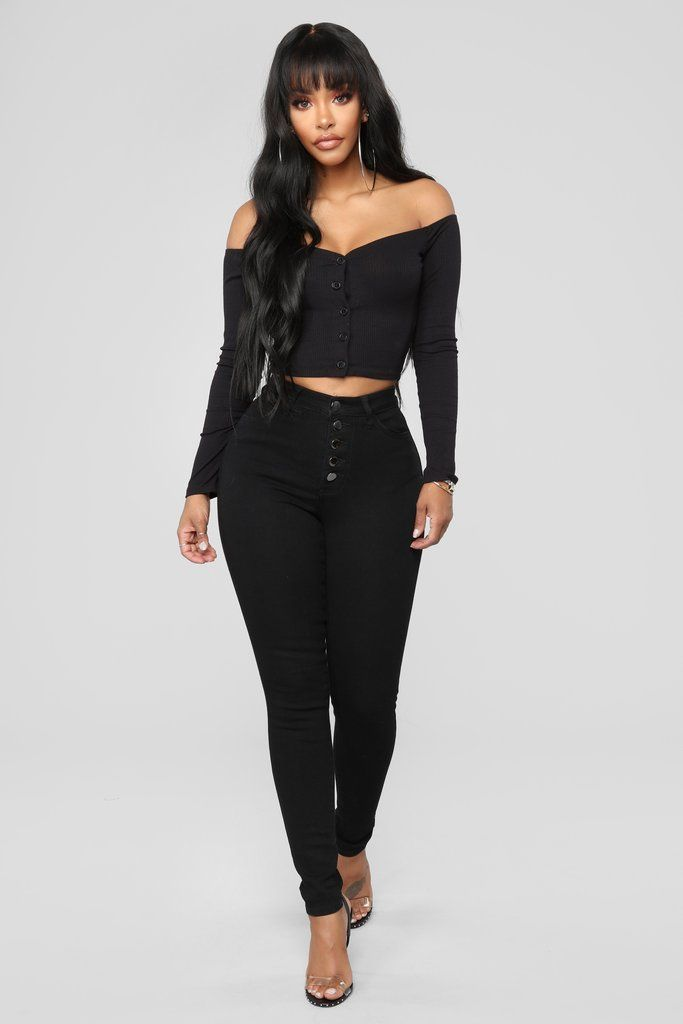 Main Chick High Rise Jeans , Black in 2019