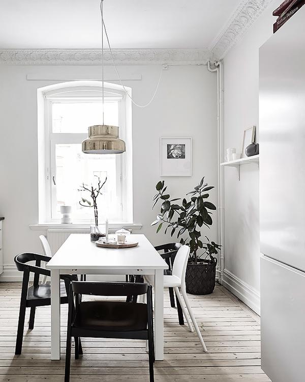 Scandinavian Dining Roomwooden Floorboards White Walls Indoor Alluring Scandinavian Dining Room Review