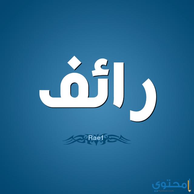 معنى اسم رائف وحكم التسمية Raef معاني الاسماء Raef اسم رائف Tech Company Logos Vimeo Logo Company Logo