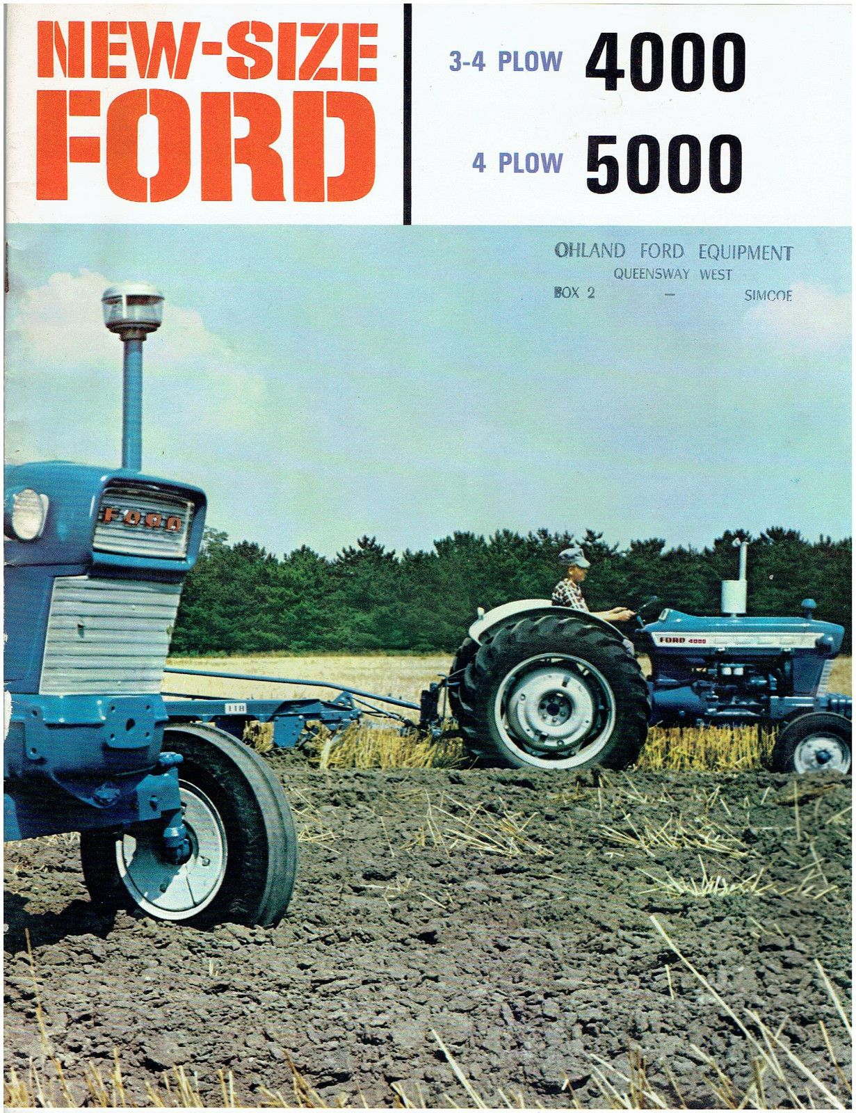 New Size Ford 4000 and 5000 Tractors Sales Brochure | eBay