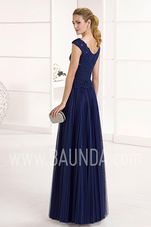 13001a4df Vestido de fiesta 2017 Marfil 1J284 azul marino. Espectacular y ...
