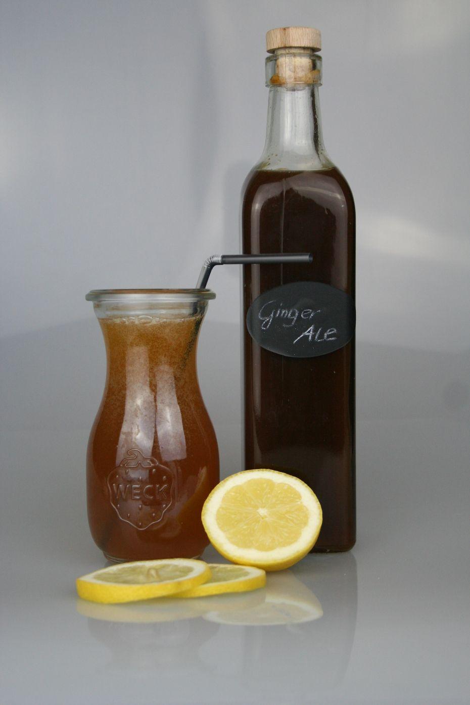 GINGER ALE – selber machen (Ingwersirup) zum Aufspritzen oder auch als Teebasis #kombuchaselbermachen
