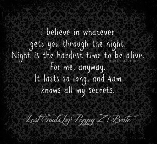 ''4am knows all my secrets'' Lost Souls (Poppy Z. Brite ...