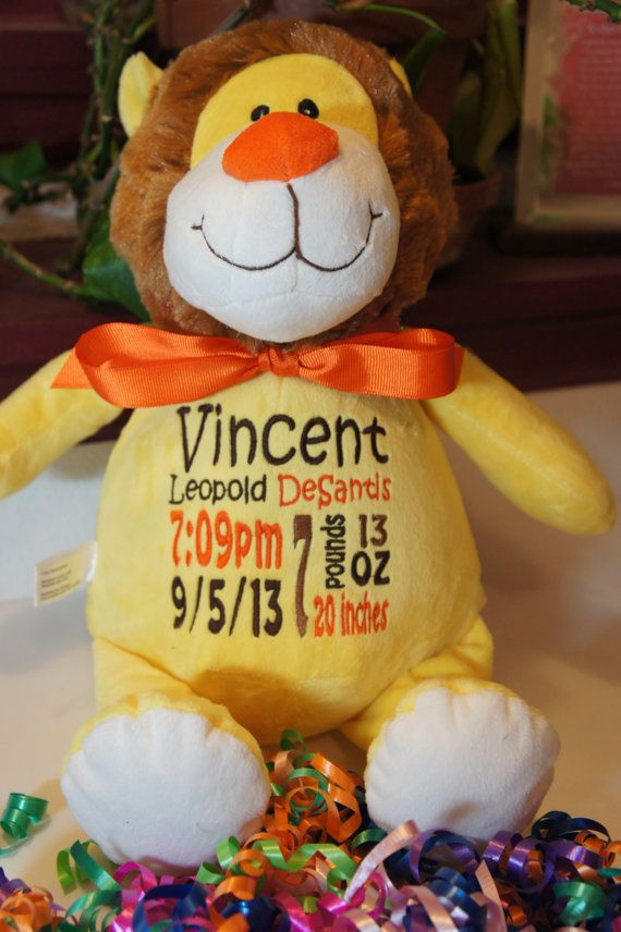 Personalized baby gift baby cubbies sundrop the lion birth personalized baby gift baby cubby sundrop the lion a plush stuffed animal negle Choice Image