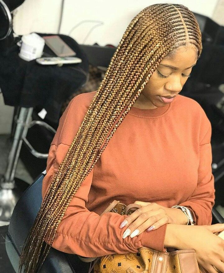 "Top African Hairstyles on Instagram: ""Blonde braids @awanihair"