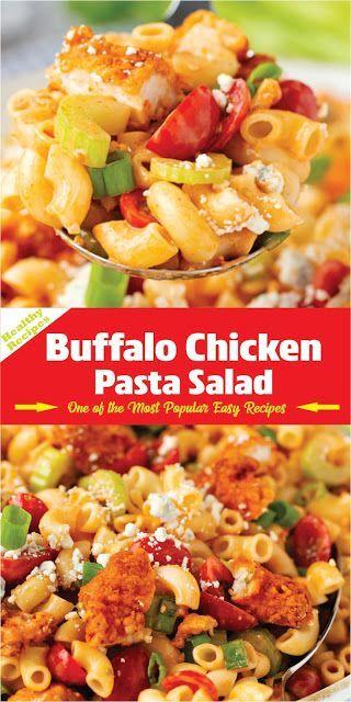 BUFFALO CHICKEN PASTA SALAD   Tägliche Rezepte -  #buffalo #chicken #pasta #Rezepte #salad #t... #buffalochickenpastasalad