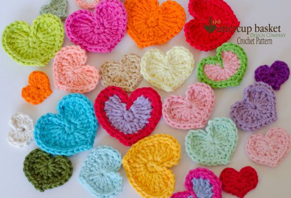 Crochet Heart Pattern, Hearts Youre going to love this sweet heart crochet pattern. This pattern includes instructions for creating FOUR