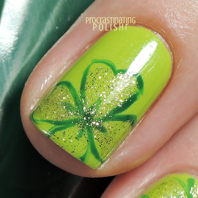 St Patrick\'s Day - Four Leaf Clover Nail Art | Nail designs ...