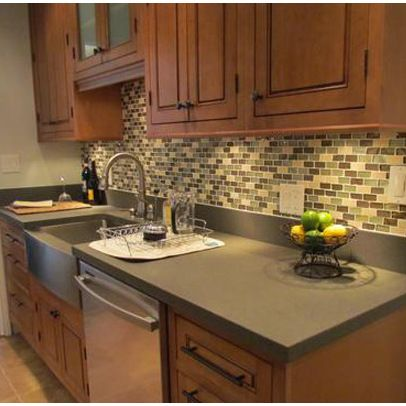 backsplash with maple cabinets - Google Search (With ... on Natural Maple Kitchen Backsplash Ideas With Maple Cabinets  id=53770