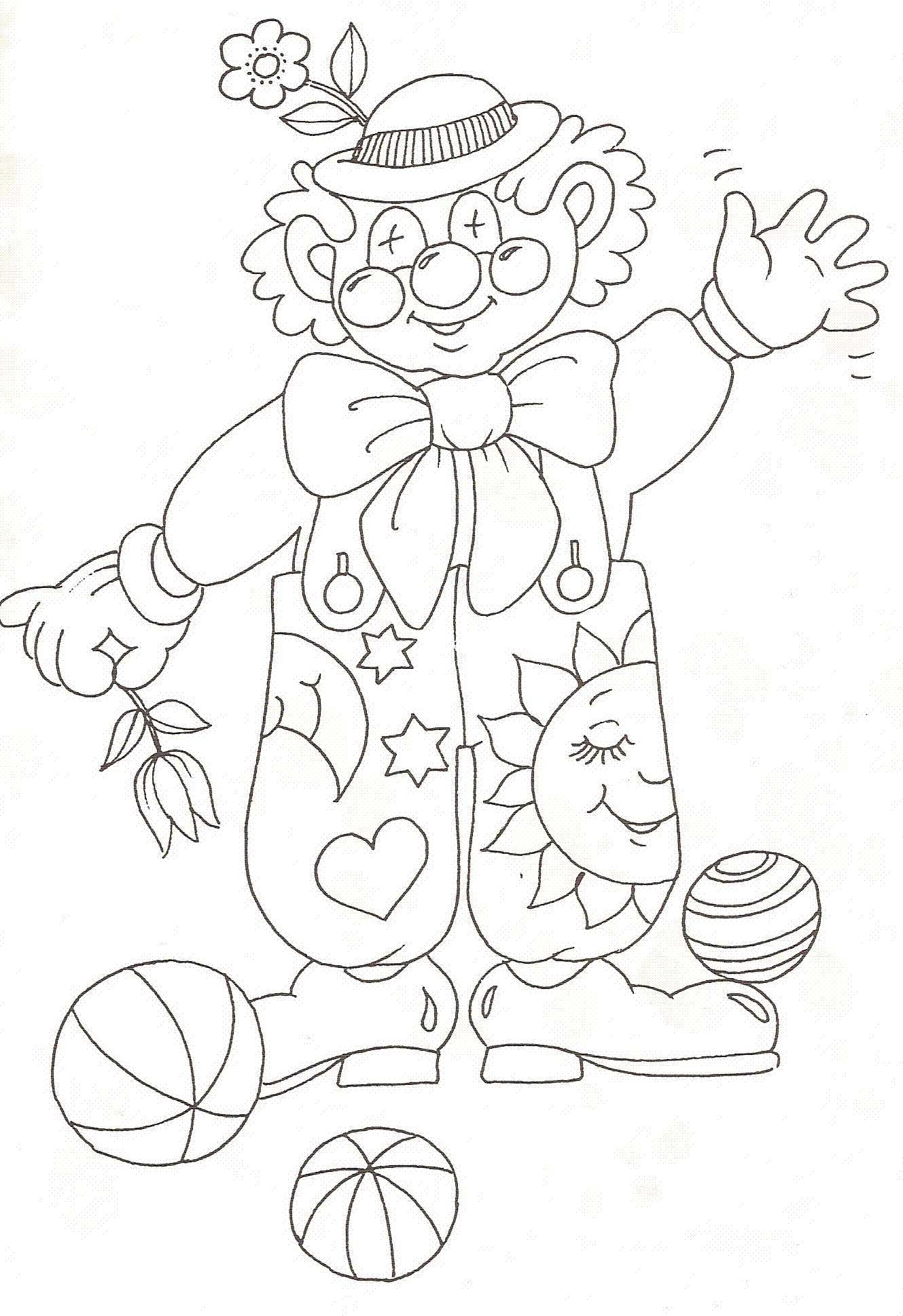 Coloriage gratuit clown recherche google cirque - Jeux de clown tueur gratuit ...
