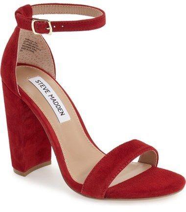 074d8c6fde5 Steve Madden  Carrson  Sandal (Women). Red SandalsAnkle Strap ...