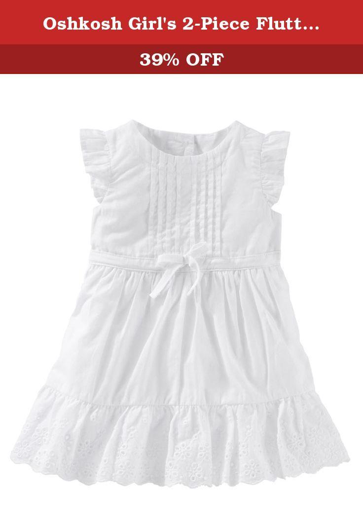 Oshkosh Girl S 2 Piece Flutter Sleeve Scalloped Eyelet Dress White 6m With Little Flutter Sleeves Eyelet Lace And Dresses Eyelet Dress Flower Girl Dresses [ 1070 x 736 Pixel ]