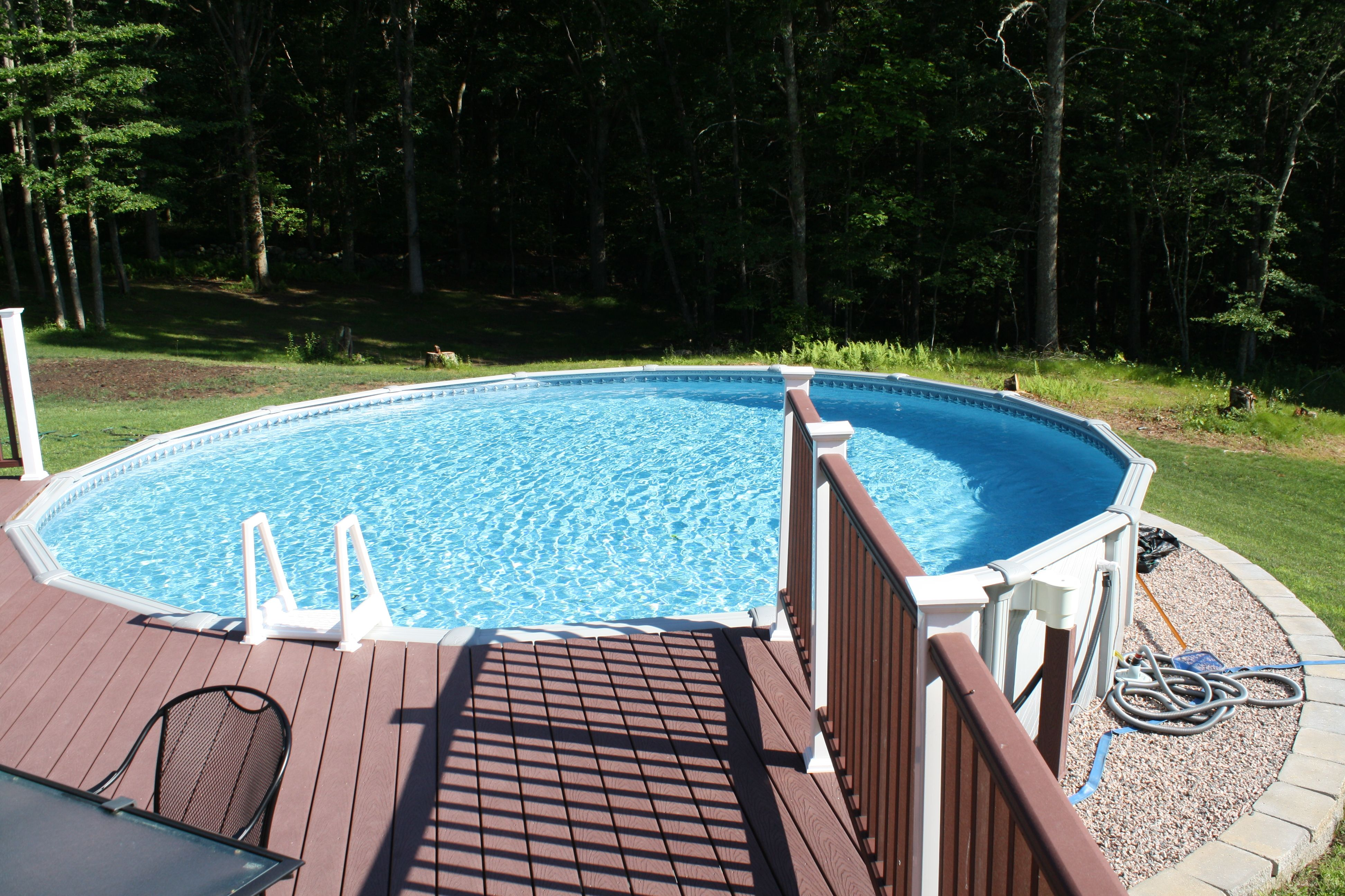 amazing deck designs for above ground swimming pools. Awesome Above Ground Pool Decks Design Forest Side Unfencing Decking When you have an above ground swimming pool  there