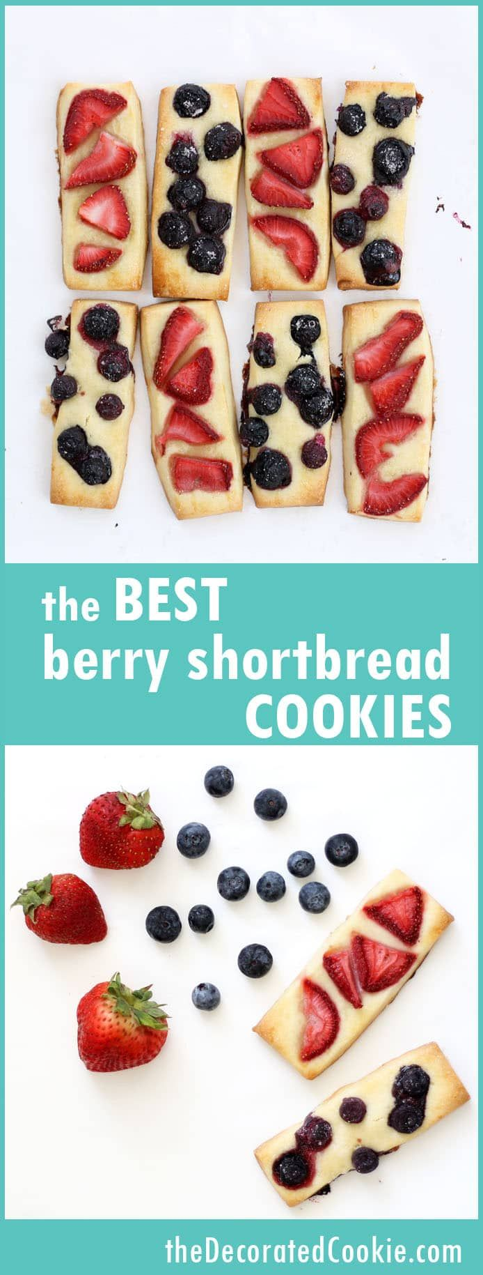 the BEST berry shortbread cookies ever, great Summer dessert
