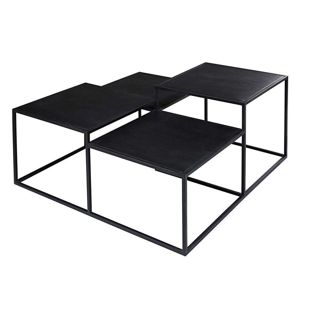 Black Metal 4 Top Coffee Table Low Tables Coffee Table 2019
