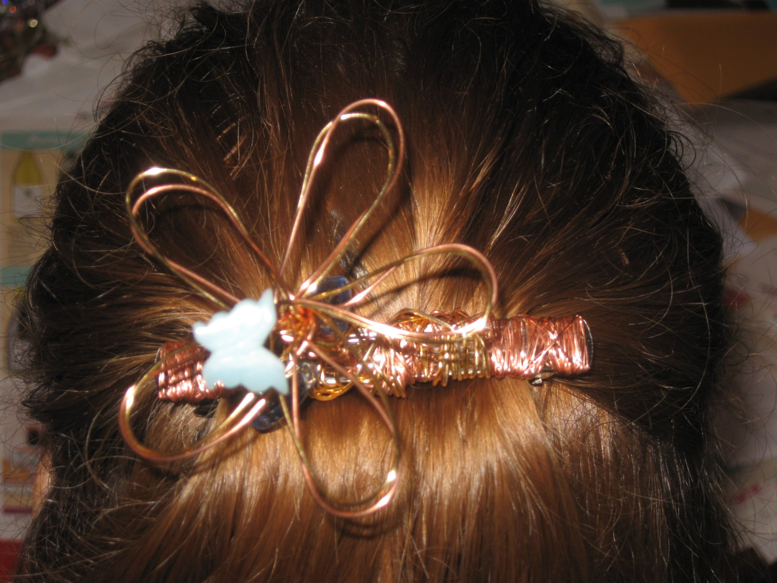 Finished hairpin red lobster gift card hair pins ear cuff