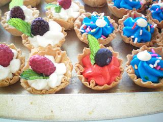 Red, White and Blue....tarts