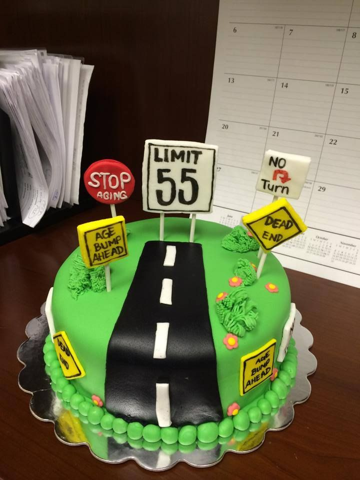Man Cake Over The Hill Limit 55 With Images Funny Birthday