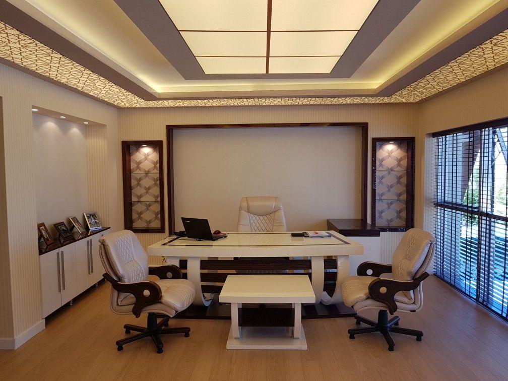 Pin By Maureena Tm On Makam Odasi Pooja Rooms Office Interiors Luxury Office