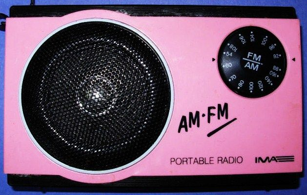 1970's± IMA Model MR15. Another AM/FM offering in rare Pepto Bismol pink