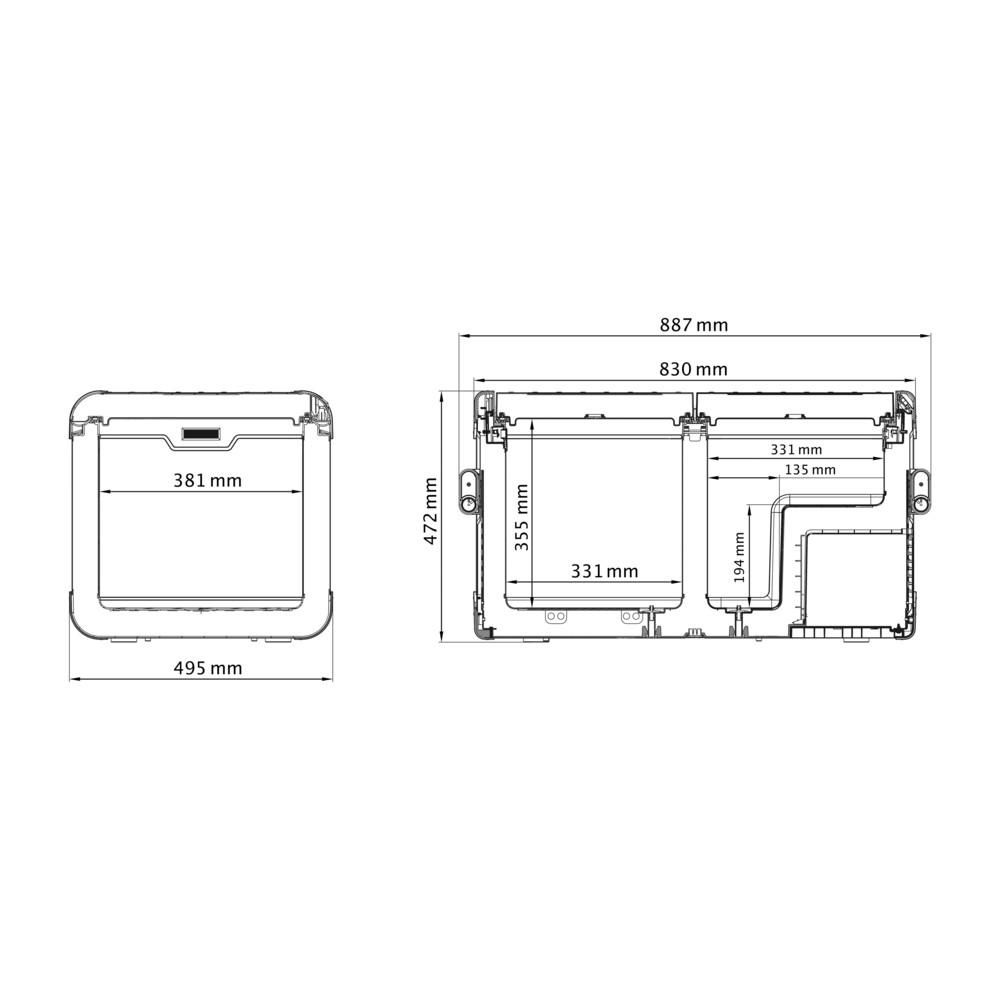 Dometic Waeco Cfx 75dzw Dometic Portable Fridge Fridge Freezers Cooler