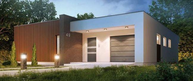 Plano de casa con dise o moderno de 1 piso y 3 - Casas prefabricadas de diseno moderno ...