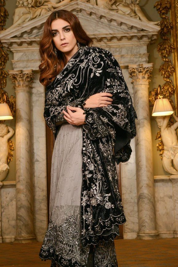 Maria B Embroidered Formal Winter Dresses Collection 2017 2018