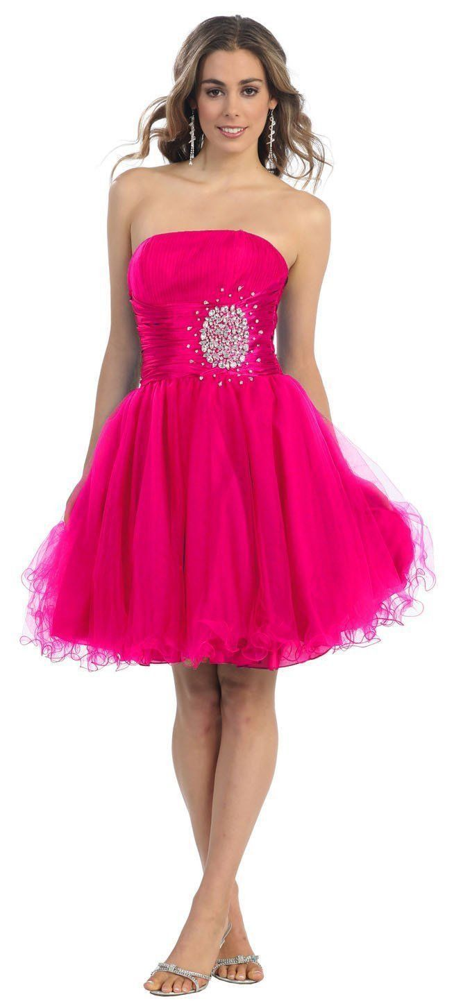 Short Cocktail Strapless Prom Formal Dress | Púrpura, Hermosa y ...