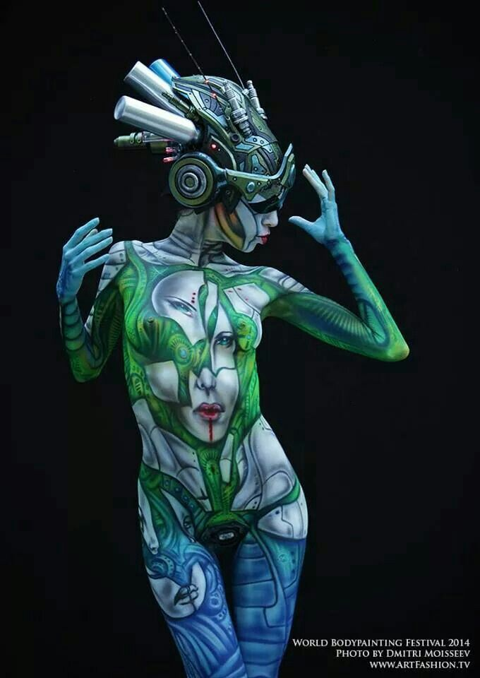 Airbrush body erotica painting picture 489