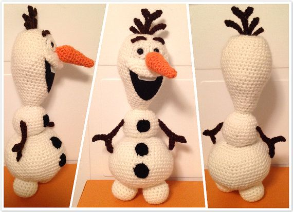 Crochet Olaf The Snowman Pdf Pattern Amigurumi From Disney