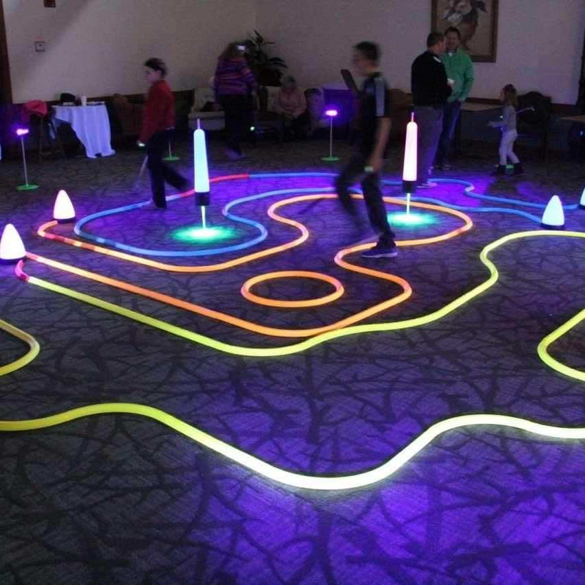 Turn Your Office Home Backyard Or Parking Lot Into An Awesome Game Of Miniature Golf With These Cosmic Putting Set Th Office Golf Mini Golf Games Mini Golf