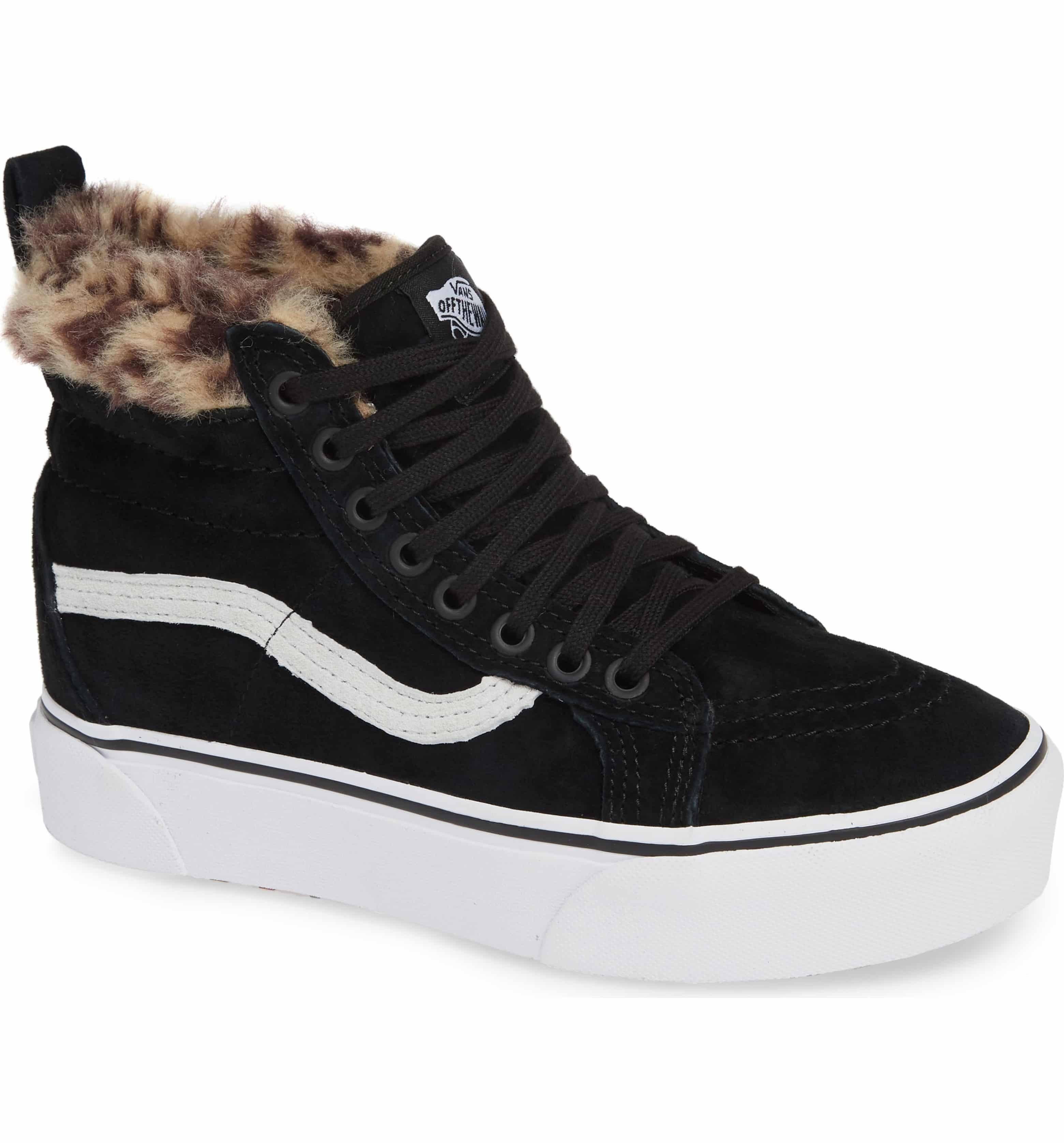 Sk8-Hi Faux Fur Lined Platform Sneaker