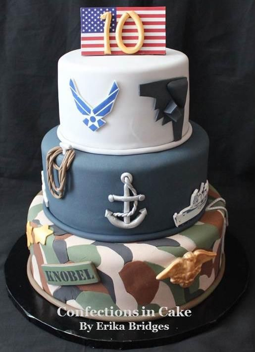 Armed Forces Themed Birthday Cake Kid S Party Cakes In