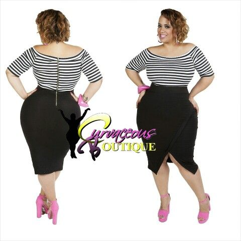 ● □ NEW ARRIVAL ● □   FINE LINE BODY-CON DRESS   ( ( MODEL WEARING 1X ) )    SIZE :  1X  2X  3X    WWW.CURVACEOUSBOUTIQUE.COM & IN STORE   { { VISIT THE WEBSITE FOR ALL DETAILS & PRICE } }