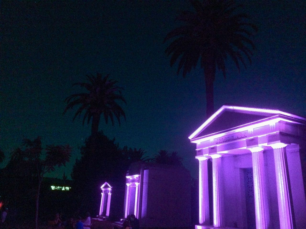sleazeburger Hollywood Forever Cemetary Purple