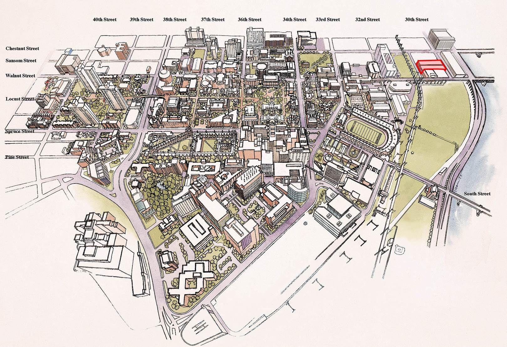 Upenn Campus Map Floorplans Masterplans Pinterest Campus Map
