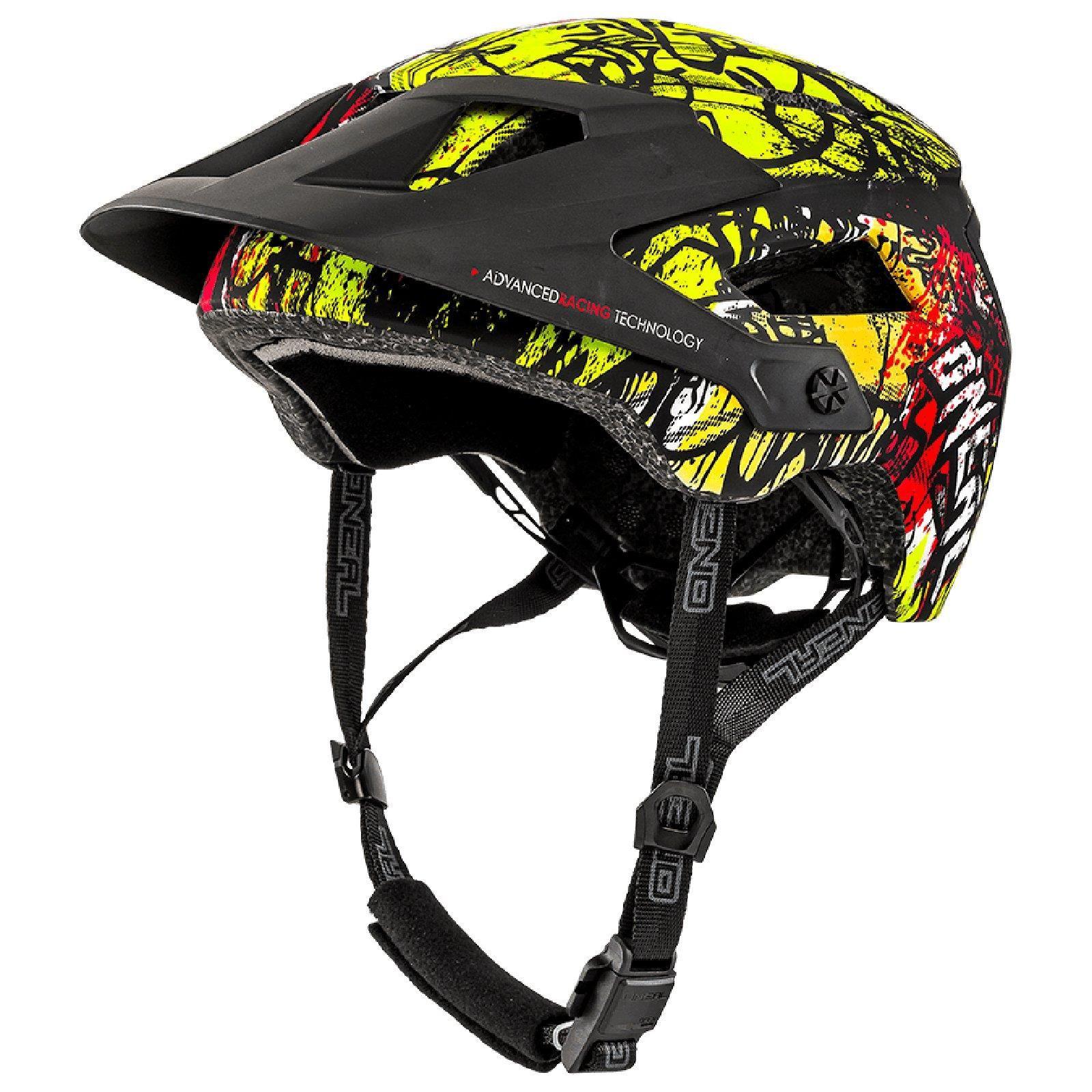 Oneal Defender Fahrrad Helm All Mountain Enduro Mountain Bike Trail Mtb Fidlock Ad Ad Helm Mountain Fahrrad Black And Red Red Yellow Yellow