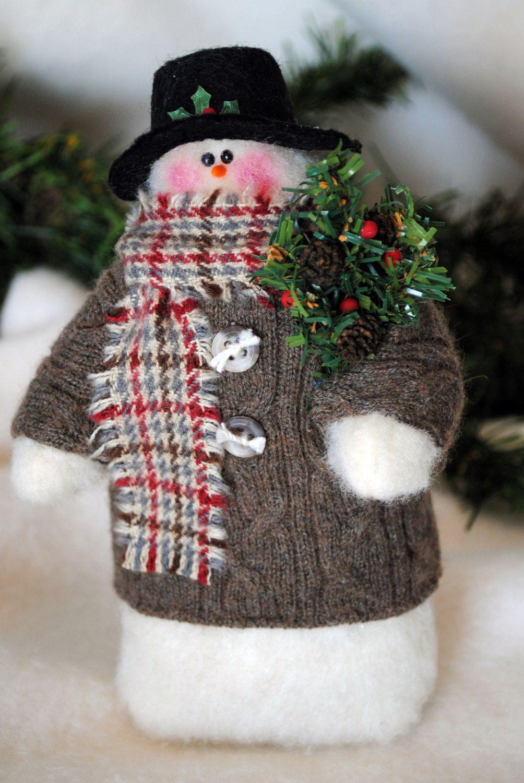 Pin by Татьяна on Новый год ,Рождество. Snowman crafts