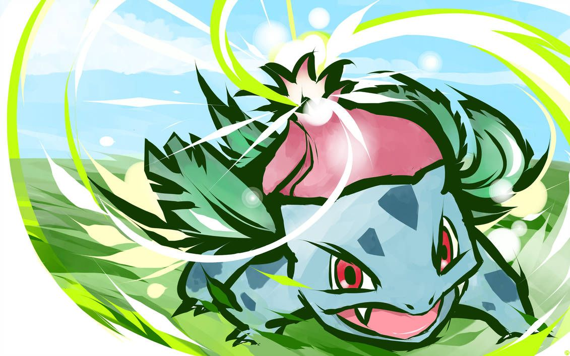 Ivysaur Solar Beam By Ishmam Anime Pokemon Pokemon Art