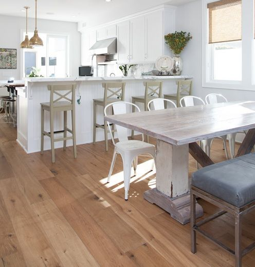 White Wooden Farmhouse Tables   Google Search · Distressed Dining ...