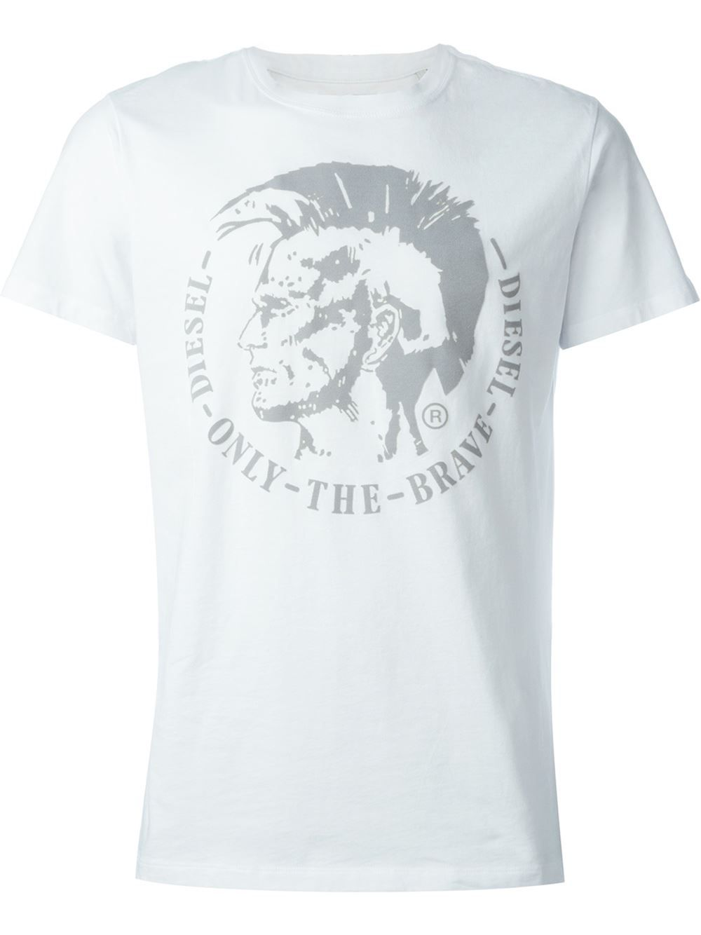 7b8a2e2f0e9bf5 Diesel only the brave embossed T-shirt