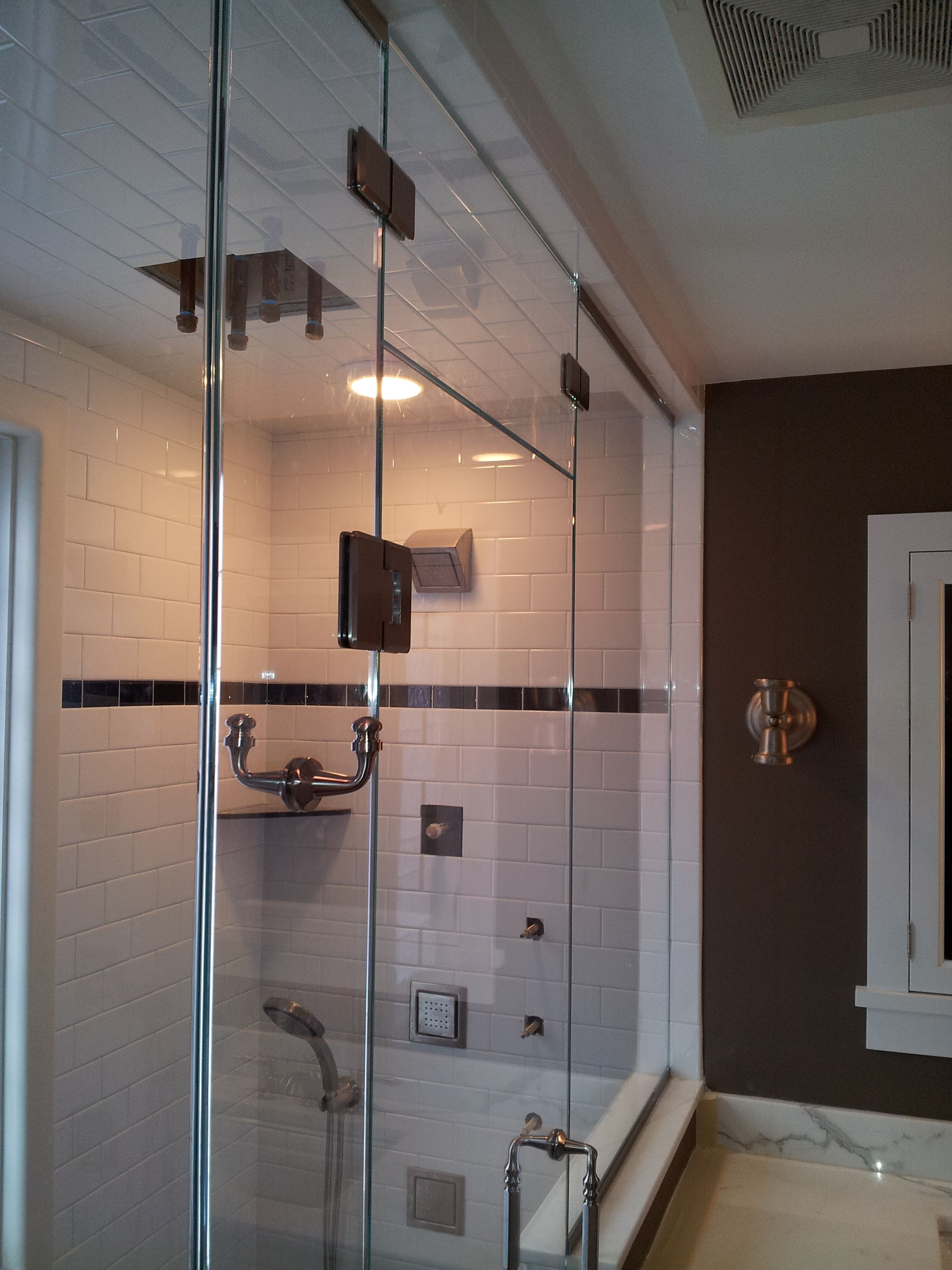 Frameless Steam With Transom With Images Frameless Shower