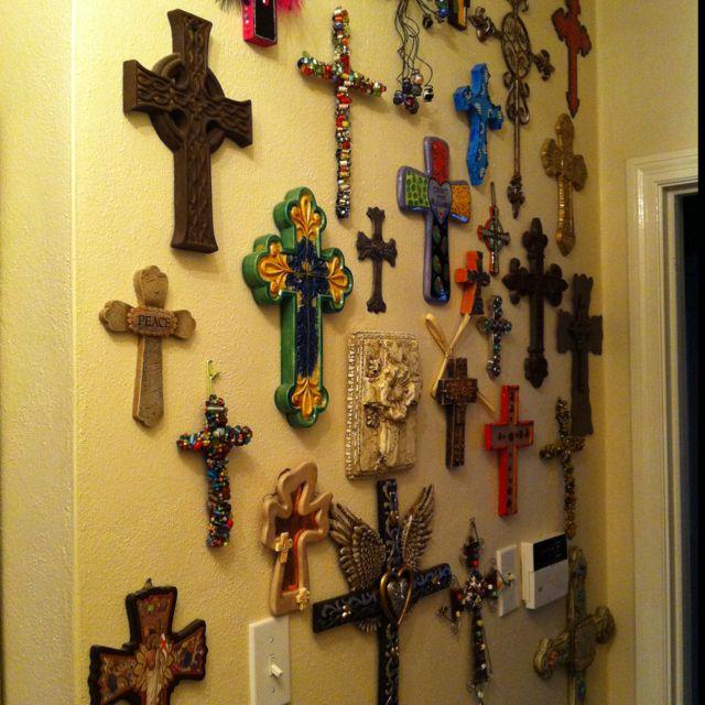 Wall of crosses | dream decor | Pinterest | Walls, Cross walls and ...