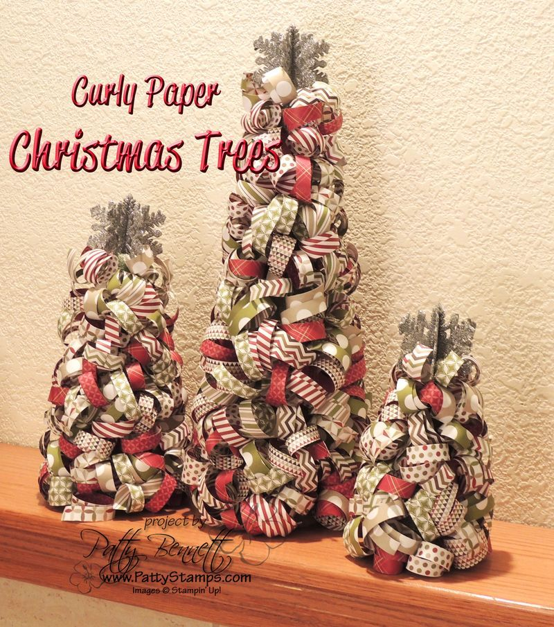 Curly-paper-christmas-trees-patty #1 3D Projects - SU Pinterest