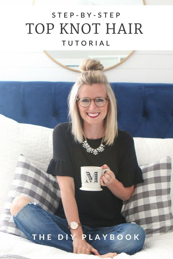An Easy Step-By-Step Half-Up Top Knot Hair Tutorial | The DIY Playbook