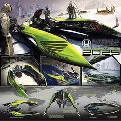 Franco Corral's Concept Art for a Honda Racer in 2025 #FutureTech #ConceptArt #CarBodyDesign
